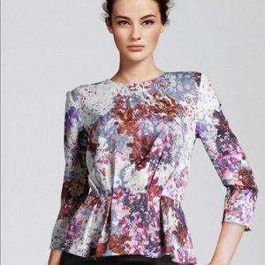 H&M floral peplum blouse